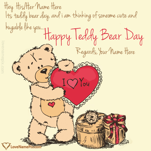 Write name on I love you Teddy Day Messages love quotes