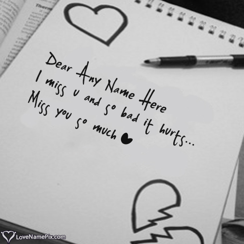 Write Name On I Miss U Images With Quotes Picture