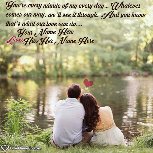 Romantic Love Quotes With Name Editor Impressive Photo Editor With Love Quotes