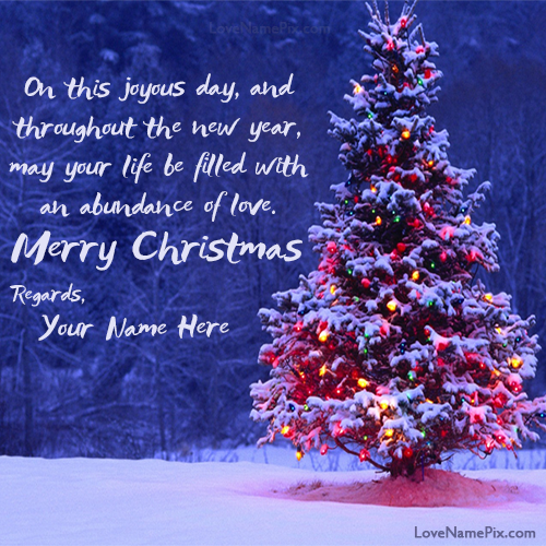 merry christmas wishes quotes with name editing