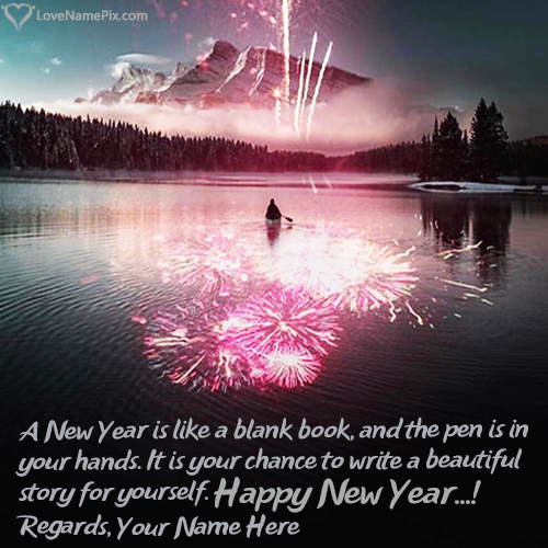 Create Happy New Year Wishes With Name Edit
