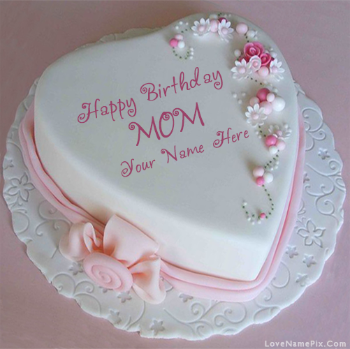 Name Birthday Cake For Mothers With Name Edit