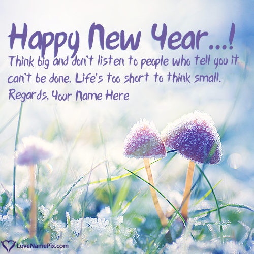Write Name on New Year Motivational Quotes Picture