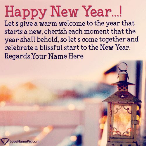New Year Wishes Friends And Family With Name