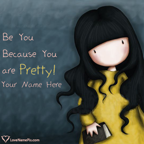 write name on pretty girl quotes images picture