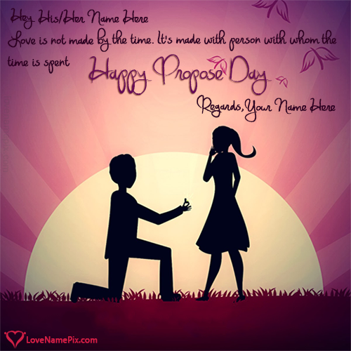 Write name on Propose Day Romantic Quotes love quotes
