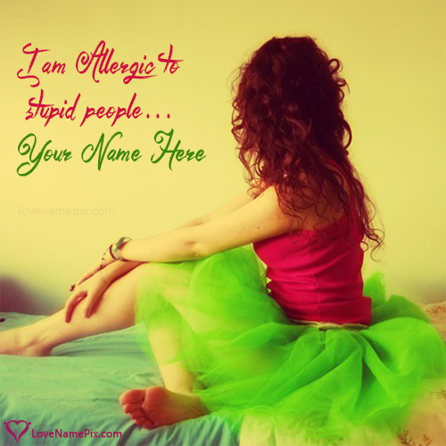 Girl With Attitude Quotes Simple Name On Stylish Girl Attitude Quotes Picture
