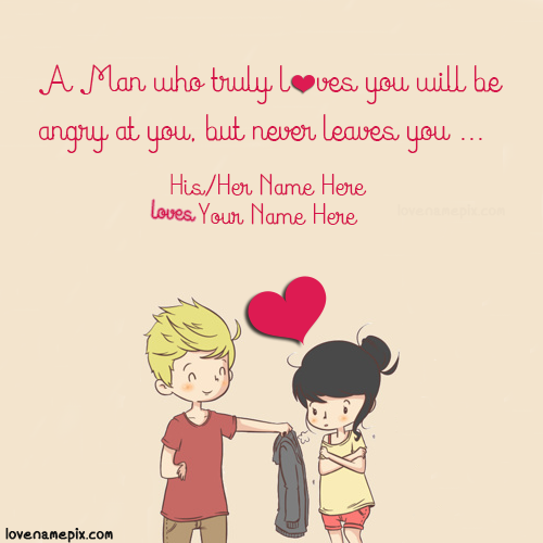 Write name on Sweet Couple Quotes For Her love quotes