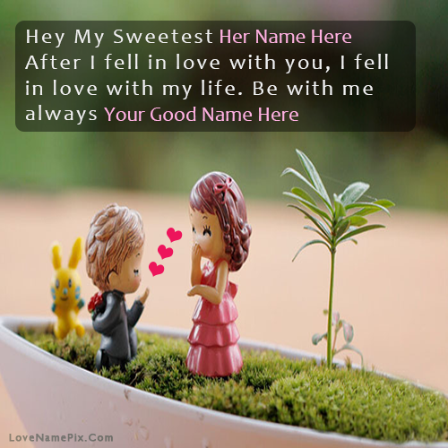 Name On Sweetest Boy Propose Picture