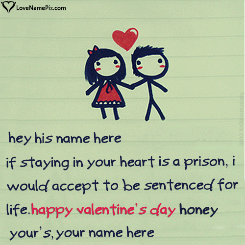 Write name on Valentine Wishes For Boyfriend love quotes