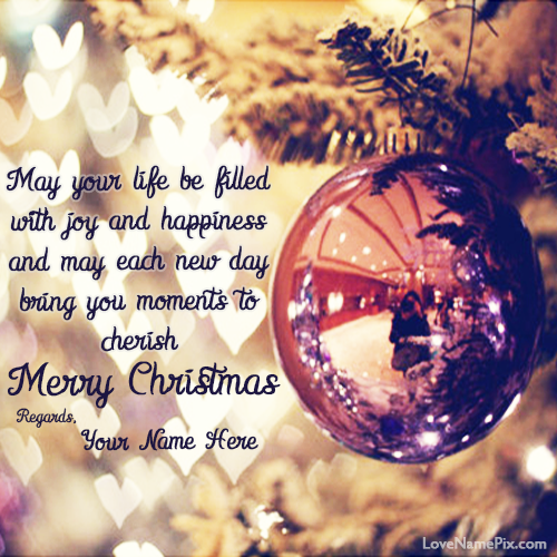 write name on wishing you merry christmas quotes picture